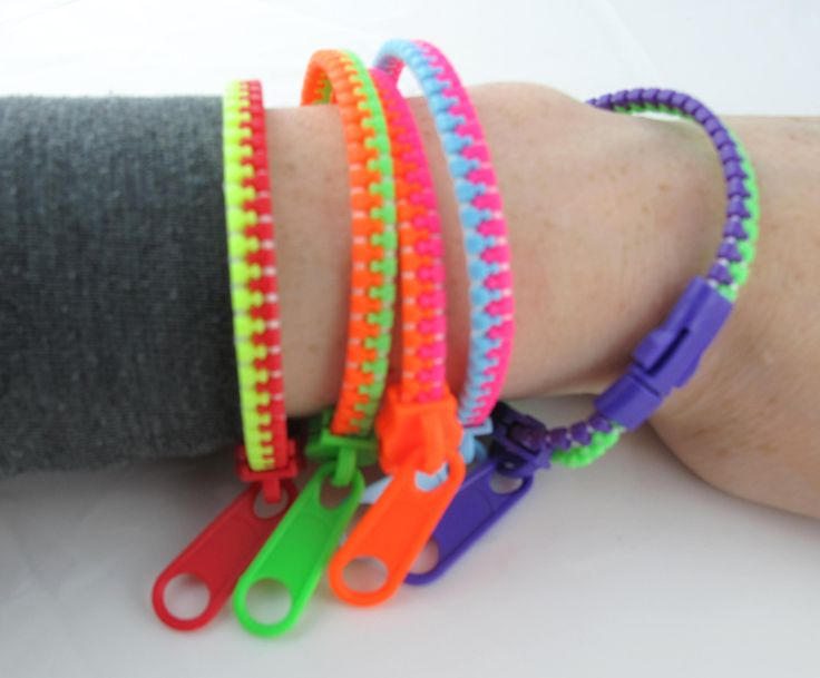 Fidgets Zipper Bracelets  I think these would suit those older children who might be self conscious if given a 'toy'