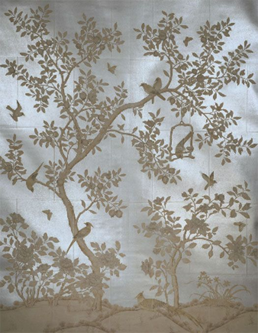 42 best images about wallpaper on pinterest gold for Chinoiserie design