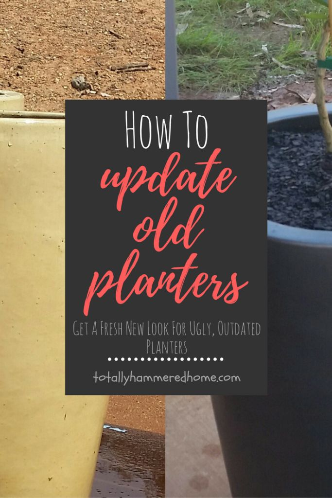 How To Update Old Planters | Totally Hammered Home