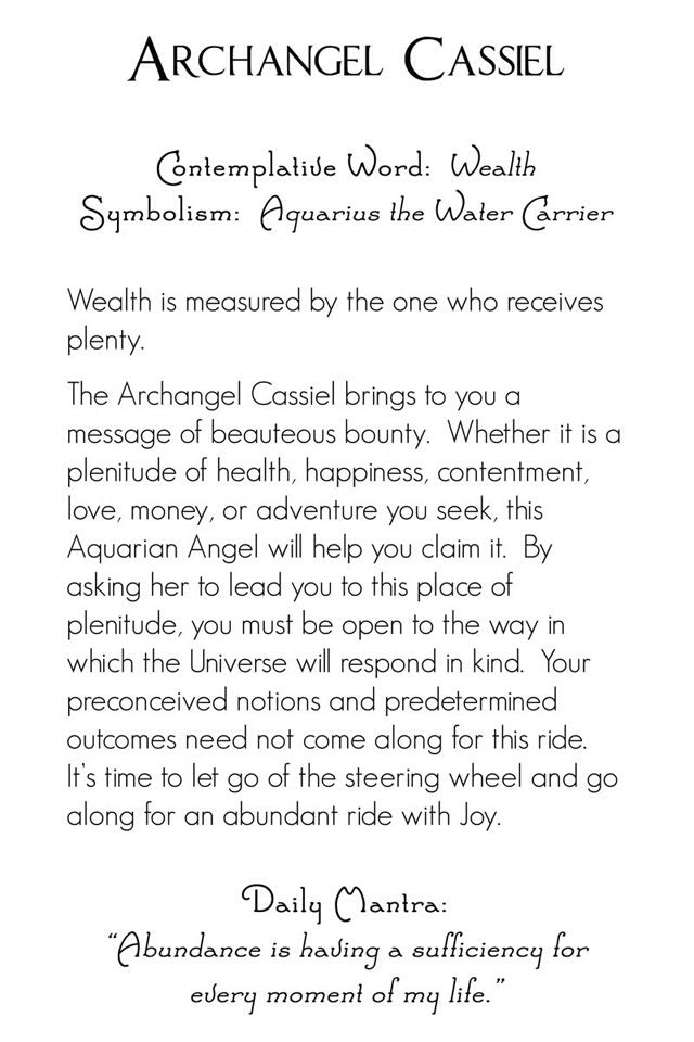 Archangel Cassiel | back | Mystic Angels Oracle 20                                                                                                                                                                                 More