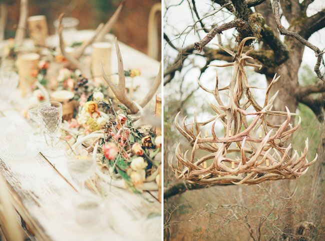 candles and antlers | Thanks so much to Three Nails Photography for letting us share their ...