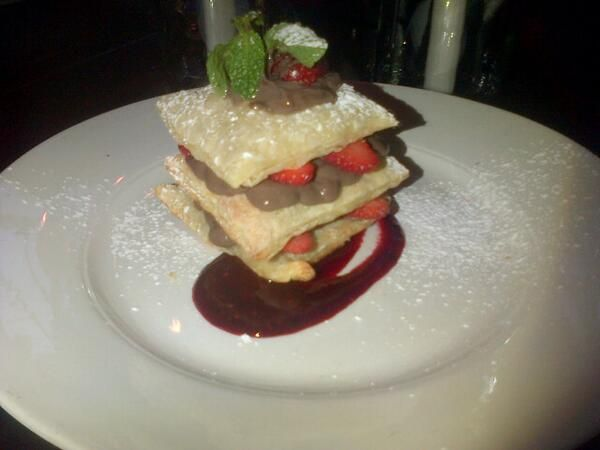 #Woodstock #CapeTown is serving the most delightful dessert this week... Choc mille feuille