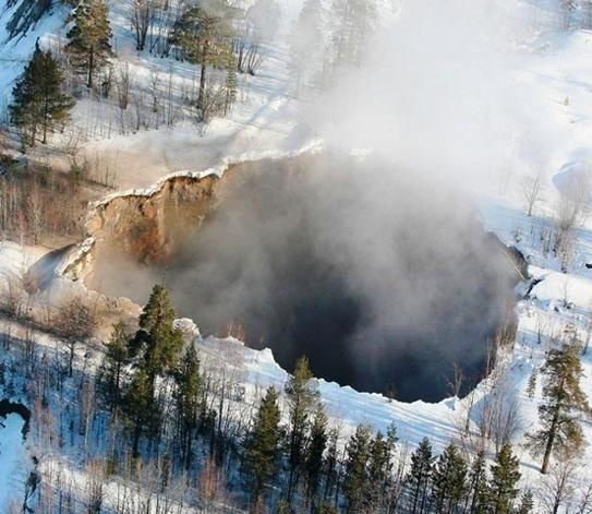 Sink hole in Sweden.