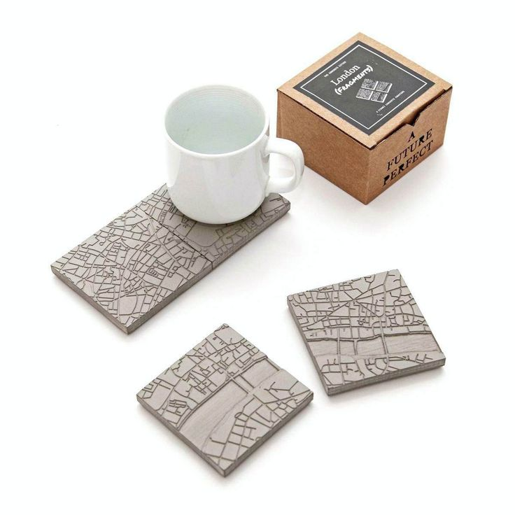 Recall your fondest memories of London whenever you use the Concrete Cities Coasters! The set consists of 4 coasters and is water and heat resistant.