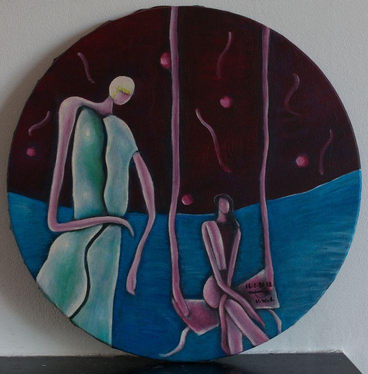"VWL/Face/004  (Paris 2012 ""Careless"")-Acrylic on canvas/Acrylique sur toile/Acrylico sobre tela (40cm)"