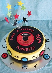 Record Cake   Idea for baby shower