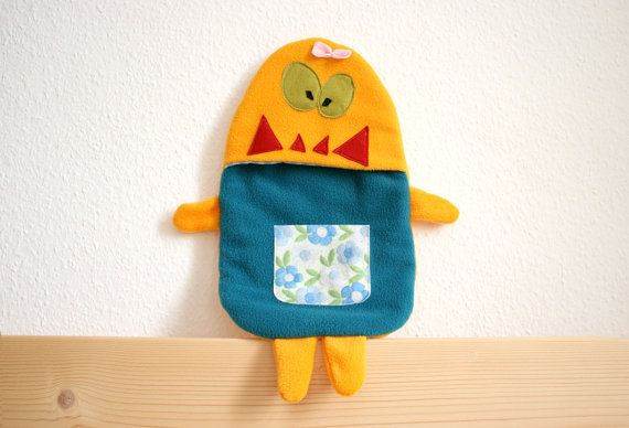 Erika hot water bottle cover by HappyMonstersLand on Etsy, $26.00