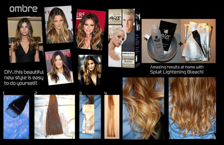Splat Hair Color lets you achieve the ombre with beautiful results!