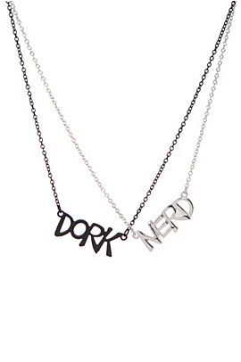 DORK AND NERD BEST FRIEND NECKLACES!!! Which one to choose???
