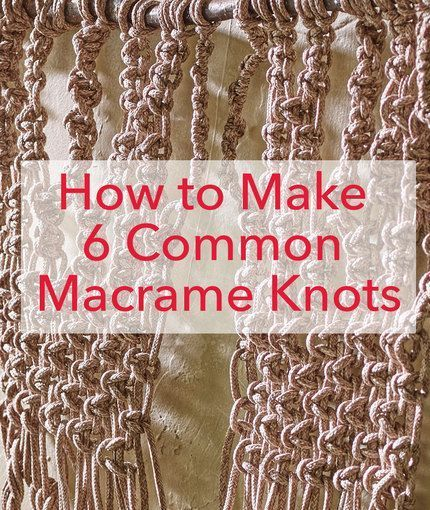 25 best ideas about macrame knots on pinterest macrame for How to make a rope wall