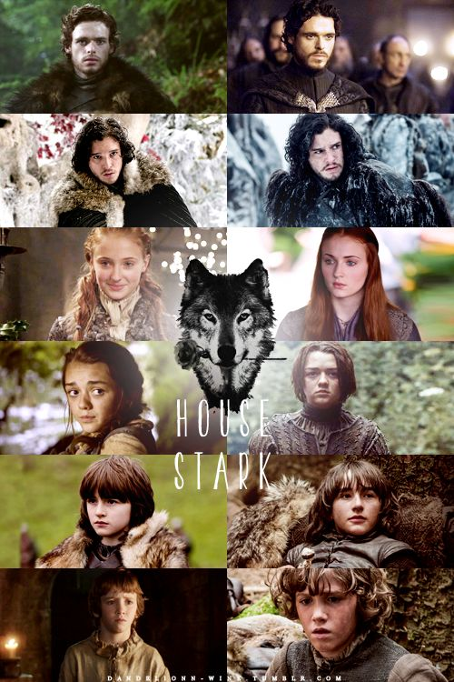 Game of Thrones-- The Stark Children