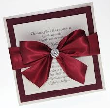 wedding cards burgundy silver ivory - Google Search