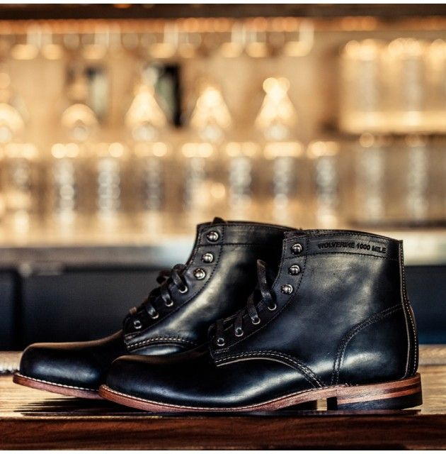 """WOLVERINE 1000 Mile Boot • GUIDEBOAT Co.  \\  """"The first 1000 Mile Boot was introduced in the 1920's and became Michigan based Wolverine's best and most iconic boot. Today each boot is handcrafted with the same attention to detail found in the originals, American made and featuring top quality Horween Chromexcel® Leather, a stacked leather outsole and classic welt construction. Incredibly comfortable, rugged and long lived. Brown or Black."""""""