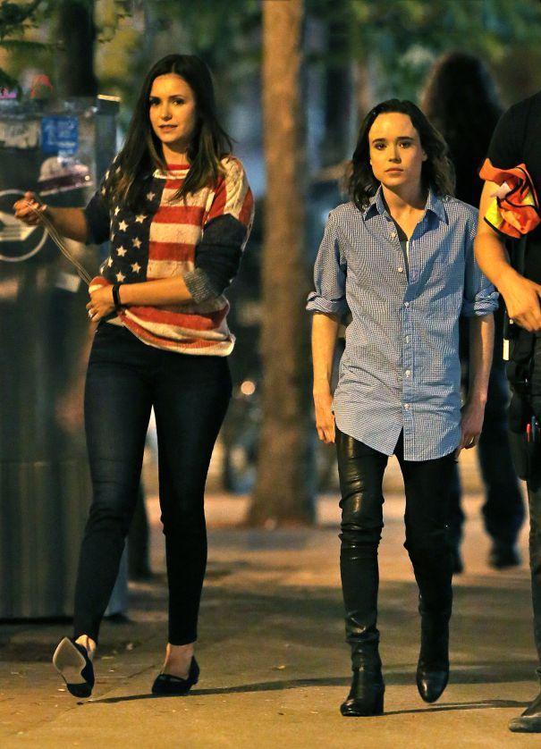 Nina Dobrev And Ellen Page Film 'Flatliners' In Toronto