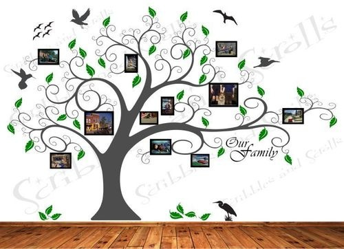 Tree w/ Photo Frames Wall Decal Sticker Family Branch Art Word Removable Vinyl…