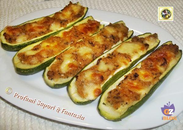Zucchine ripiene al forno senza carne  Blog Profumi Sapori & Fantasia
