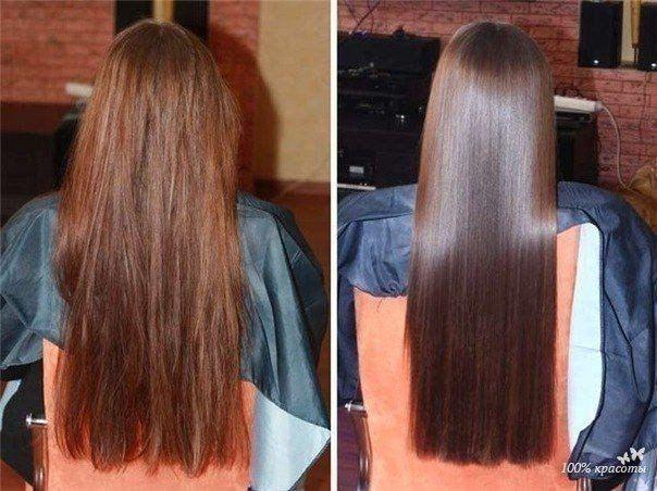 Ламинирование волос на дому  Нам потребуется: 1) желатин — 1ст. ложка 2) горячая вода — 3ст. ложки 3) бальзам для волос — 1/2 ст. ложки  берём 1 столовую ложку желатина, высыпаем её в стеклянную посуду,добавляем три столовых ложки горячей воды, для растворения желатина, активно размешиваем до полного растворения. Даём смеси остыть, а в это время моем голову и наносим свою любимую маску/бальзам, всё смываем, вытираем волосы полотенцем и идём к нашему зелью. Берём любую маску/бальзам и…