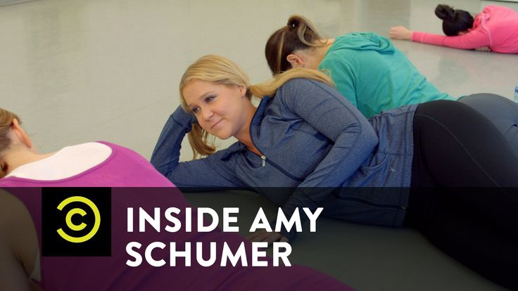 """Lotta people don't know THIS IS the exercise that broke up Anne Heche and Ellen...WOa stay away from my window Melissa Etheridge."" **This is too funny. #InsideAmySchumer"