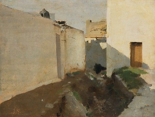 John Singer Sargent  White Walls in Sunlight, Morocco 1879-80 Oil on wood Dimensions: 10 1/4 x 13 5/8 in. (26 x 34.6 cm) Metropolitan Museum of Art, NYC
