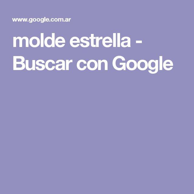molde estrella - Buscar con Google