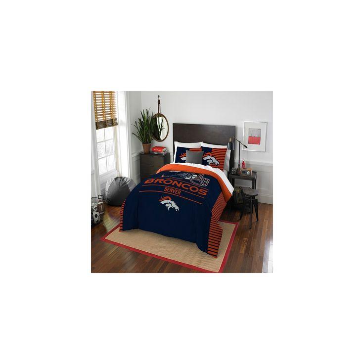 NFL Denver Broncos Northwest Draft Full/Queen Comforter Set
