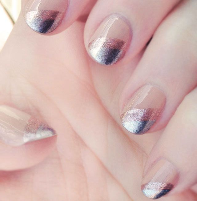DIY Metallic #Ombre Nails