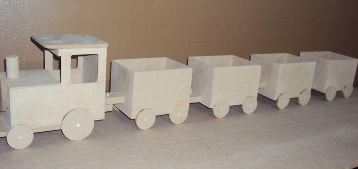 Trem mdf decoração festa 1,10 mts | Luartes Lembrancinhas | Elo7