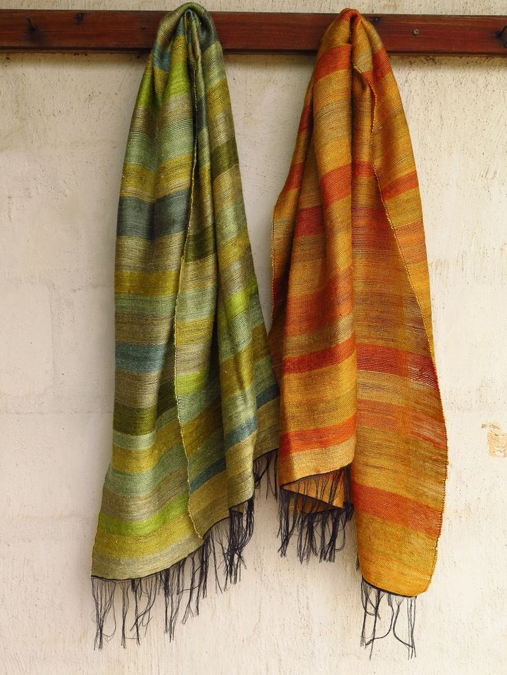 Striped mohair blankets