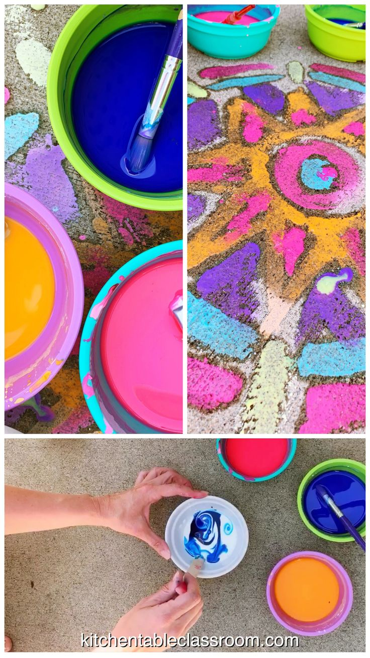 Sidewalk Chalk Paint – A DIY Recipe – The Kitchen Table Classroom