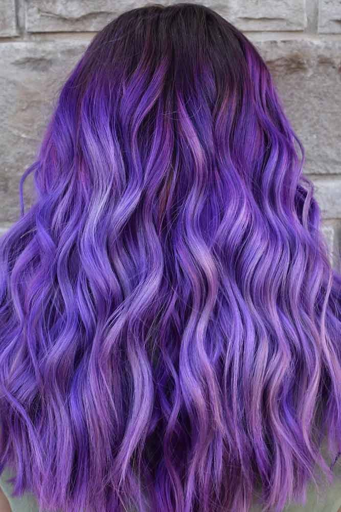 Saturated Purple Hair For Spring Look #purplehair #purplehaircolor Spring hair colors are cool and refreshing, allowing …