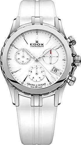 EDOX Grand Ocean Chronolady Chronograph 10410-3-AIN - http://uhr.haus/edox/edox-grand-ocean-chronolady-chronograph-10410-3
