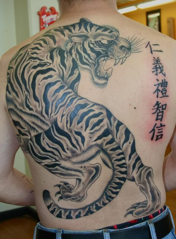 Aidan Monahan Tiger back piece Tattoo Picture | Tattoo ...