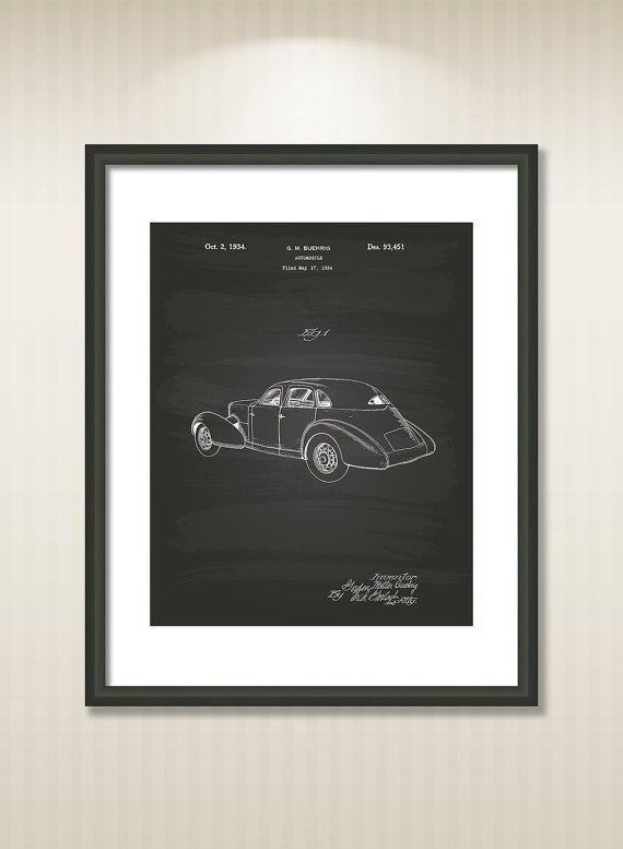 Cord Automobile 1934 Patent Art Illustration  Drawing  by TawerArt