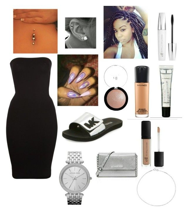 """""""Birthday outfit 😊"""" by cailynn2004 on Polyvore featuring Wolford, MAC Cosmetics, Michael Kors and e.l.f."""