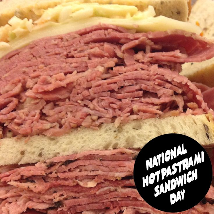 National Hot Pastrami Sandwich Day January 14, 2020 in