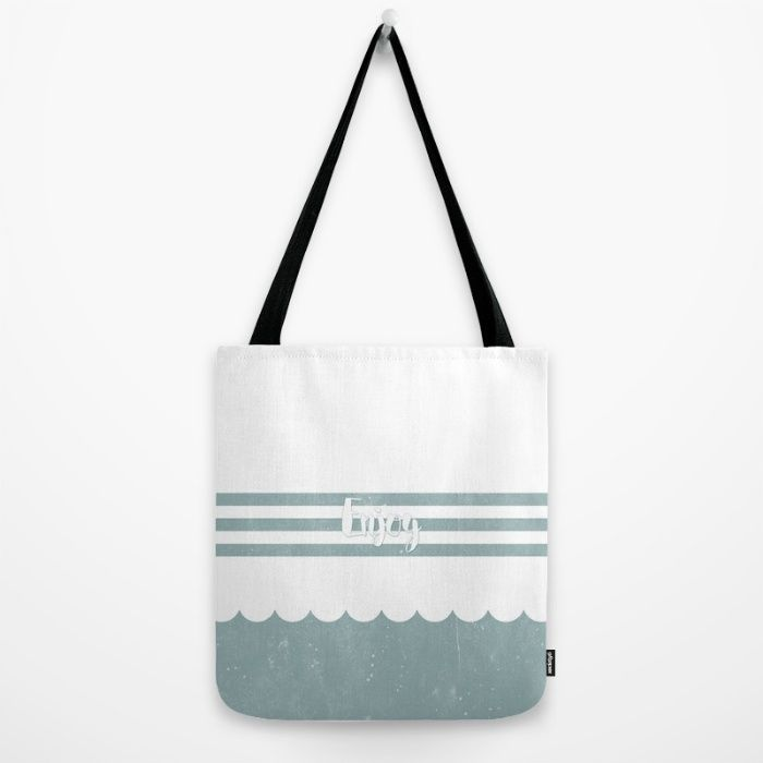 Buy Enjoy Sea Tote Bag by ongadesign. Worldwide shipping available at Society6.com. Just one of millions of high quality products available.