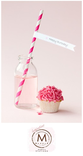 Simple & Fun ... a little dash of pink for your girls' party