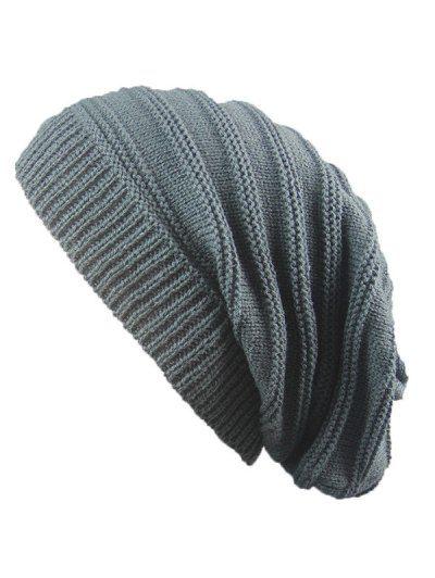 c826efcbfa7db0 Striped Ribbing Knitting Stacking Beanie Hat #Hats #Fashion #Womens #Men  #DeepGray