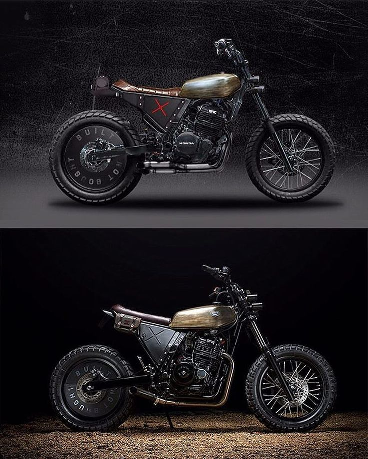 The @kbuiltbike NX650: photoshop concept vs finished build. Bravo sir! #nx650 #tracker #builtnotbought