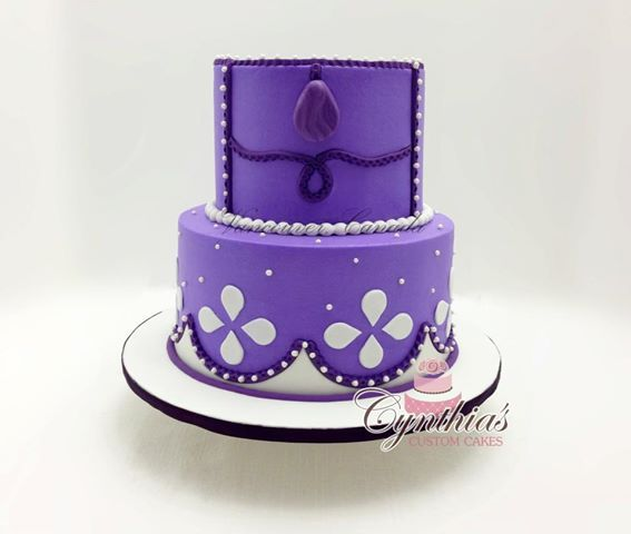 "sofia the first cake | Photo: Sofia the First themed cake!8"" - 6"" Buttercream cake with ..."