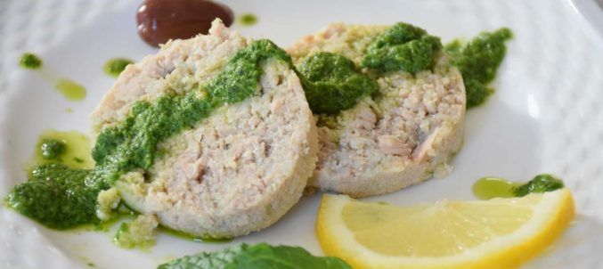 Polpettone di Tonno (Tuna Loaf) with Horseradish Green Sauce - Alternative to gefilte fish