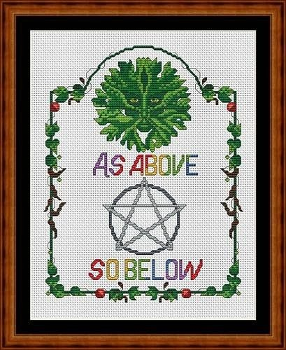 wiccan cross stitch - For some pagan friends.