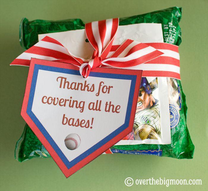 Cute gift idea for my son's Tball team