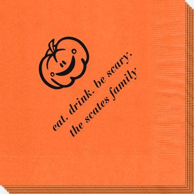 Smiling Pumpkin Napkins: Pumpkin Napkins, Smile Pumpkin