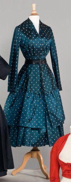 Christian DIOR Haute couture, n° 7440, Printemps - Eté 1948 Griffe blanche,