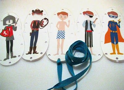 Printable lace-up boy! A spin on paper dolls. You print him, and all his different clothes, and then lace up the sides to make the clothes stay on: Lace Cards, Paper Dolls, Printable Lace Up, Dolls Party'S, Paperdolls, Lacing Cards