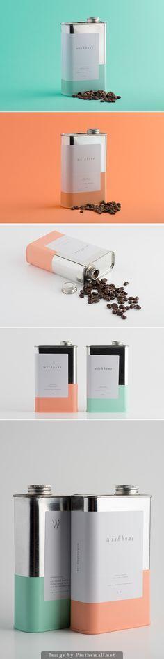 Those colors. Wishbone Brew coffee packaging #packaging #design