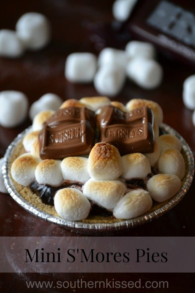 Mini S'Mores Pies - no need to light a fire, you can make these tasty treats in your oven   SouthernKissed.com