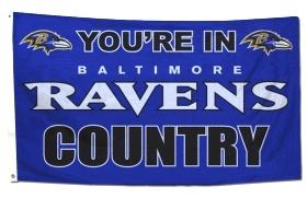 Baltimore Ravens 3'x5' Country Design Flag $33.95 http://www.mysportsdecor.com/baltimore-ravens-country-flag.html #baltimoreravens #baltimoreravensflag