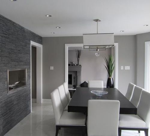 gray dining room, awesome